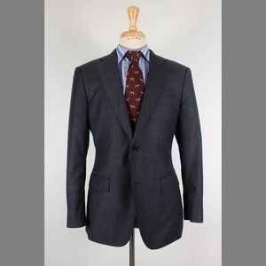 SuitSupply 40R Gray Sport Coat B722
